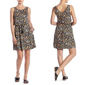 Lucky Brand All Over Geometric Print Dress